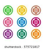 japanese family crests.  | Shutterstock .eps vector #575721817