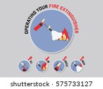 operating of fire extinguisher | Shutterstock .eps vector #575733127