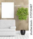 modern bright interior with... | Shutterstock . vector #575733487