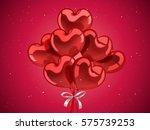 valentine's day elements  heart ...   Shutterstock . vector #575739253