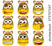 Horse Facial Expressions Vecto...
