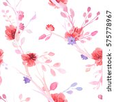 set of flowers  leaves and... | Shutterstock . vector #575778967