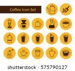 coffee icon set. vector... | Shutterstock .eps vector #575790127