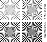 set the template light rays... | Shutterstock .eps vector #575811193