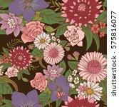 vector seamless floral pattern... | Shutterstock .eps vector #575816077