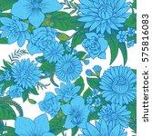 vector seamless floral pattern... | Shutterstock .eps vector #575816083