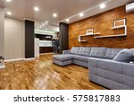 living room with a beautiful... | Shutterstock . vector #575817883