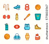 sports icons. sport concept ... | Shutterstock .eps vector #575833567