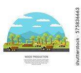 industrial wood manufacturing... | Shutterstock .eps vector #575836663