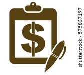 pictograph of notepad with pen ... | Shutterstock .eps vector #575837197
