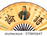 Confucius Portrait On Chinese...