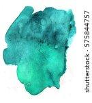 turquoise blue watercolor blot... | Shutterstock . vector #575844757