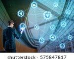 businessman using smart phone...   Shutterstock . vector #575847817