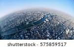 planet earth. big city view... | Shutterstock . vector #575859517