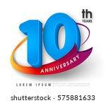 anniversary emblems 10... | Shutterstock .eps vector #575881633