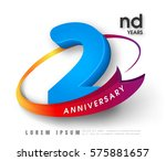 anniversary emblems 2... | Shutterstock .eps vector #575881657