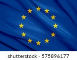 fabric texture flag of european ... | Shutterstock . vector #575896177