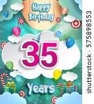 35 Years Birthday Design For...