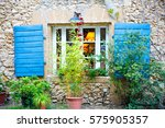 part of provencal house of... | Shutterstock . vector #575905357