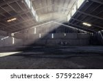 warehouse with shafts of light... | Shutterstock . vector #575922847