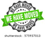 we have moved. stamp. sticker.... | Shutterstock .eps vector #575937013