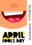 1 april fool's day. vector... | Shutterstock .eps vector #575938753