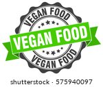 vegan food. stamp. sticker.... | Shutterstock .eps vector #575940097