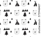 bear and forest pattern for... | Shutterstock .eps vector #575948407