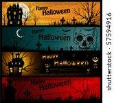 halloween banners | Shutterstock .eps vector #57594916