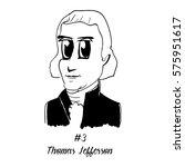 cartoon caricature character... | Shutterstock .eps vector #575951617