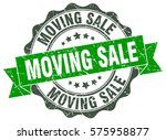 moving sale. stamp. sticker.... | Shutterstock .eps vector #575958877