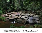 Small photo of Sleepy river with beautiful rock formation at Agathis Camp