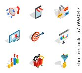 online shop icons set.... | Shutterstock .eps vector #575966047