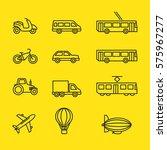transport icons | Shutterstock .eps vector #575967277