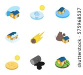 natural disaster icons set....   Shutterstock .eps vector #575968537