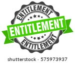 entitlement. stamp. sticker.... | Shutterstock .eps vector #575973937