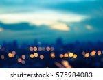 blue bokeh background city...