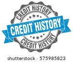 credit history. stamp. sticker. ... | Shutterstock .eps vector #575985823