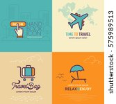 book online button flat icon ... | Shutterstock .eps vector #575989513