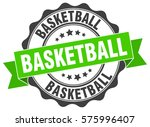 basketball. stamp. sticker.... | Shutterstock .eps vector #575996407