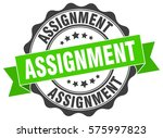 assignment. stamp. sticker.... | Shutterstock .eps vector #575997823
