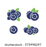 blueberry. icon set. abstract... | Shutterstock .eps vector #575998297