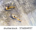 aerial view of a working... | Shutterstock . vector #576004957