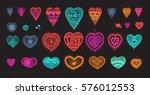 knitted heart  crafts... | Shutterstock .eps vector #576012553