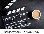 screenwriter desktop with movie ... | Shutterstock . vector #576022237