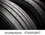 car tire close up | Shutterstock . vector #576042847