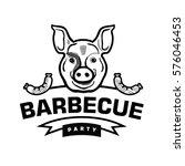 barbecue logo. | Shutterstock .eps vector #576046453