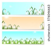 spring background with... | Shutterstock .eps vector #576046663