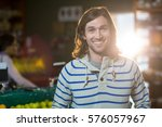 portrait of smiling man... | Shutterstock . vector #576057967