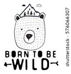 born to be wild typography and... | Shutterstock .eps vector #576066307